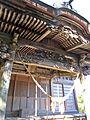Carving of Sakamine-jinja shrine in Haramachi ward.JPG