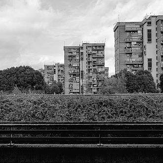 Urban decay - Council houses in Scampia, Naples