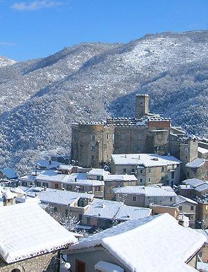 Cineto Romano - Image: Castello neve 1