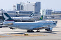Cathay Pacific Airways ,CX562 ,Boeing 747-412F ,B-HKT ,Arrived from Hong Kong ,Kansai Airport (16048287673).jpg