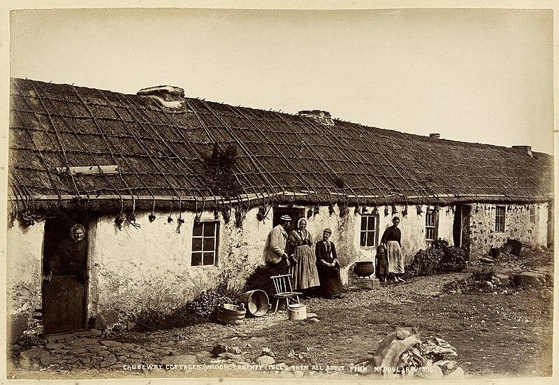 File:Causeway Cottages, (Widow Laverty telling tales of Finn McCool) (13735482144).jpg