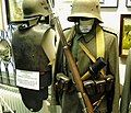 Celler Garnison Museum Celle Niedersachsen Germany 08 German World War I uniforms and weapons, helmets, body armour, Stahlhelm, etc. Low-res photo www.euro-t-guide.com 2009 Free use No known copyright restrictions.jpg