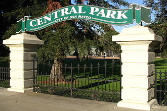 Central Park (San Mateo) - Entry to the park