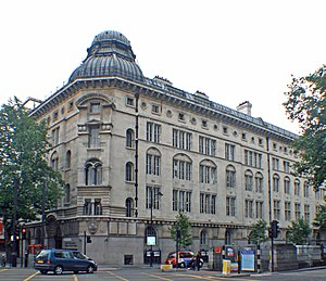 Southampton Row - Central Saint Martins College of Art and Design, Southampton Row campus at the junction with Theobald's Road .