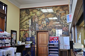 Kenneth Callahan - Callahan's mural Industries of Lewis County (oil on canvas, 1938) in the Main Post Office, Centralia, Washington.
