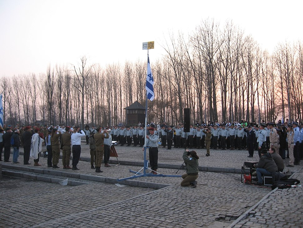 Ceremony Of Israel Defense Forces In Auschwitz