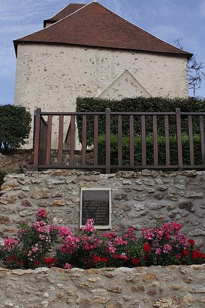 Plaque commémorative de la bataille de 1814 à Viffort, dans l'Aisne.