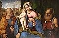 Château de Chantilly, Palma il Vecchio, Madonna with child, Saint Jerome, St. Peter and donor.JPG
