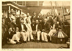 Challenger expedition - The crew of the Challenger Expedition in 1874.