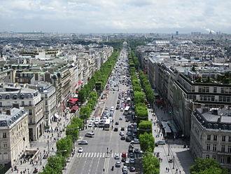Champs-Élysées - Image: Champs Élysées from the Arc de Triomphe