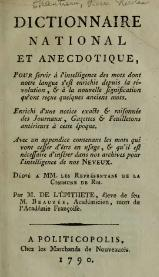 Chantreau - Dictionnaire national et anecdotique - 1790.djvu
