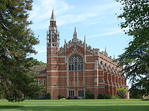 Radley College - West front and spire of the College Chapel.