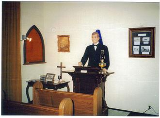 Pampa, Texas - Model chapel in White Deer Museum