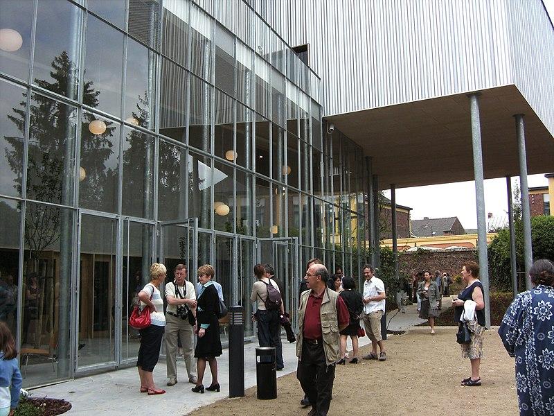 Musée de la photographie à Charleroi - nouvelle aile inaugurée le 1 juin 2008 - jardin d'hiver