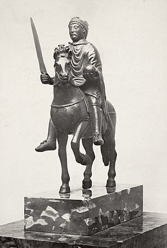 Charles the Bald - The so-called Equestrian statuette of Charlemagne (c. 870), thought to most likely depict Charles the Bald