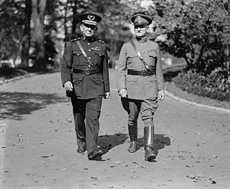 Charles S. Farnsworth - Farnsworth, right, with Marine Commandant John A. Lejeune at the White House, October 20, 1924.