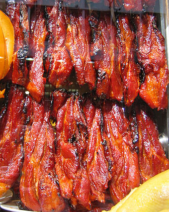 Char siu is a popular way to flavor and prepare barbecued pork in Cantonese cuisine.[3]