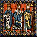 Chartres VITRAIL DE LA VIE DE JÉSUS-CHRIST Motiv 09 Les Mages s'en retournant, dirigés par l'étoile.jpg