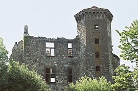 Ruins of the chateau of Branzac