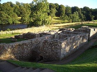 Cilurnum - Image: Chesters milecastle bathhouse