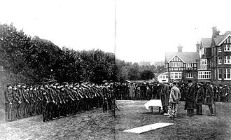 St Cyprian's School - General Cheylesmore addresses the school's Cadet Corps after they won the Imperial Challenge Shield in 1917