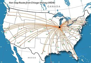 South Side, Chicago - Midway Airport serves the South Side with connections to the nation and the world.