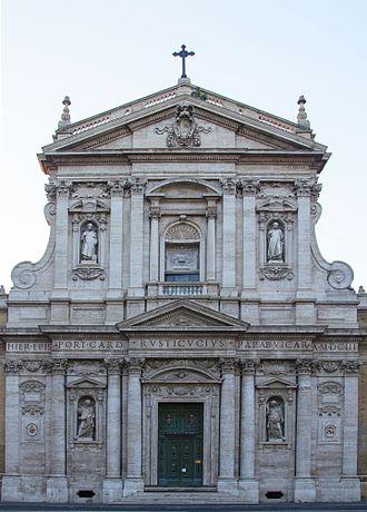 Santa Susanna - Baroque façade of Santa Susanna by Carlo Maderno (1603).