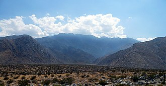 Chino Canyon (California) - Chino Canyon Palm Springs, California, as observed from Palm Canyon Drive