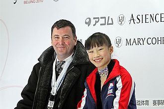 Brian Orser - Orser with Christina Gao in 2010.