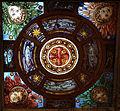 Cimitero dall'antella, cappella barocchi, soffitto con vetrata della manifattura chini 02.JPG