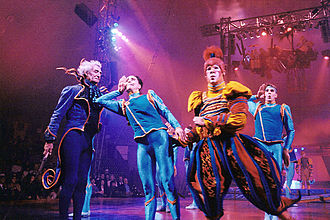 Cirque du Soleil - On stage at the 1993 finale of Nouvelle Expérience