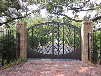New Orleans Botanical Garden - Gate by Enrique Alferez was formerly the main entrance to the Botanical Garden