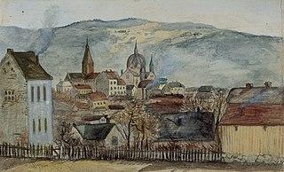 Utsikt fra Rosenborg løkke mot øst