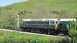 Class 27 No. D5401 at Corfe Castle (7225314598).jpg
