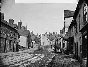 Ruthin - Clwyd Street, Rhuthun circa 1875.