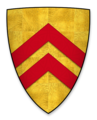 Coat of arms of John FitzRobert, Lord of Warkworth Castle.png