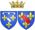 Coat of arms of Louise de Bourbon as Duchess of Longueville.png
