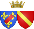Coat of arms of Marie Victoire de Noailles as Countess of Toulouse.png