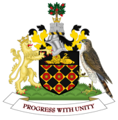 Coat of arms of Wigan Metropolitan Borough Council.png