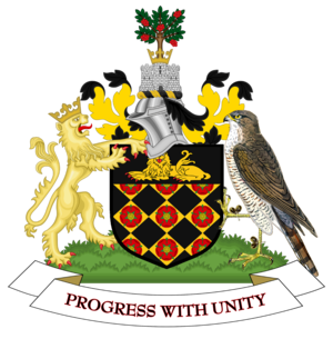Metropolitan Borough of Wigan - Image: Coat of arms of Wigan Metropolitan Borough Council