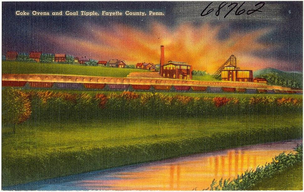 Coke ovens and coal tipple, Fayette County, Penn (68762)