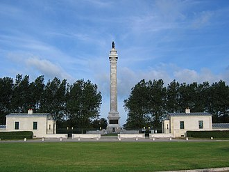 Column of the Grande Armée - The Column of the Grande Armée, with its flanking pavilions