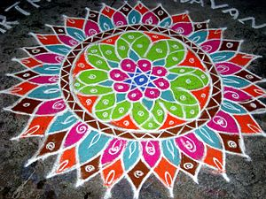 Vrata - Image: Colorful Kolam