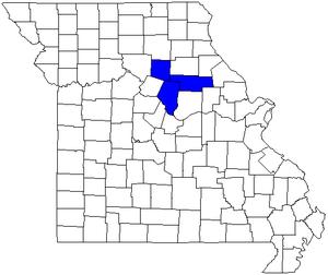 Columbia, Missouri metropolitan area - Image: Columbiamocsa