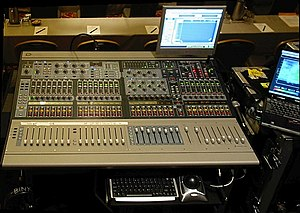 Avid Audio - Digidesign D-Show Profile live digital mixer on location at a corporate event