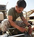 Combat engineer Marines conduct Transfer of Authority Ceremony in Afghanistan 140429-M-YZ032-137.jpg