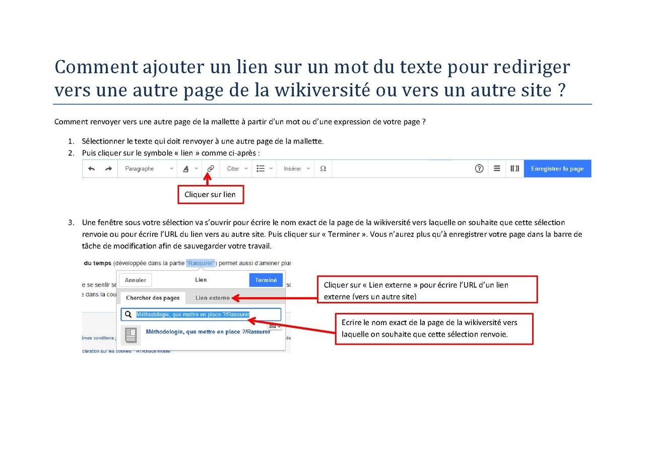 file comment ajouter un lien sur un mot du texte pour rediriger vers une autre page de la