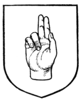 "Fig. 259.—A hand ""in benediction."""