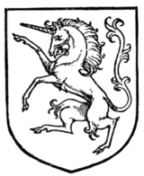 Fig. 414.—Unicorn rampant.