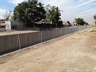 Green Meadows, Los Angeles - Compton Creek from Wall Street, south of East 108th St., Green Meadows